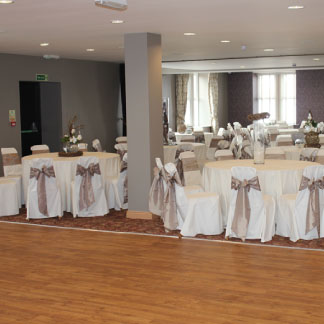 Function room with dressed tables